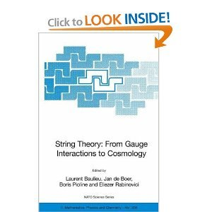 String Theory: From Gauge Interactions to Cosmology free download