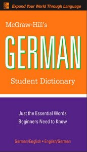 McGraw-Hill's German Student Dictionary free download
