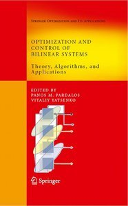 Optimization and Control of Bilinear Systems: Theory, Algorithms, and Applications free download