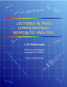 Lectures in Basic Computational Numerical Analysis free download
