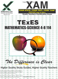 TExES Mathematics-Science 4-8 114 Teacher Certification Test Prep Study Guide free download
