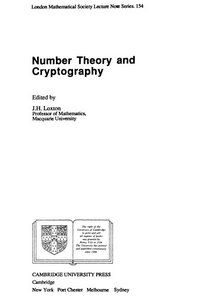 Number Theory and Cryptography free download