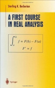 A First Course in Real Analysis (Undergraduate Texts in Mathematics) free download