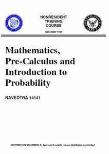 Mathematics, Pre-Calculus and Introduction to Probability free download
