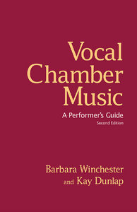 Vocal Chamber Music: A Performer's Guide free download