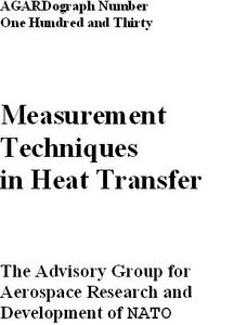 Measurement techniques in heat transfer free download
