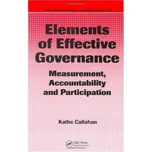 Elements of Effective Governance: Measurement, Accountability and Participation free download