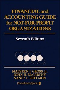 Financial and Accounting Guide for Not-for-Profit Organizations, Seventh Edition free download