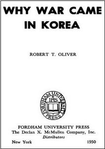 Why War Came in Korea free download