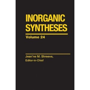 Inorganic Syntheses, Volume 24 free download