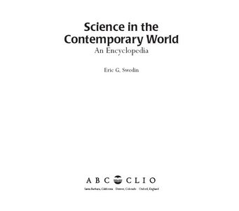 Science in the Contemporary World An Encyclopedia free download