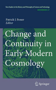 Change and Continuity in Early Modern Cosmology free download