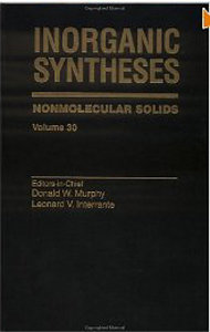 Inorganic Syntheses Volume 30, Nonmolecular Solids free download