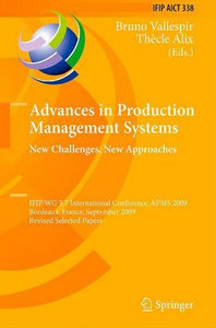 Advances in Production Management Systems: New Challenges, New Approaches free download