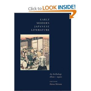 Early Modern Japanese Literature: An Anthology, 1600-1900 free download