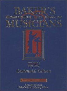 Baker's Biographical Dictionary of Musicians, Vol. 1: Aalt-Cone free download