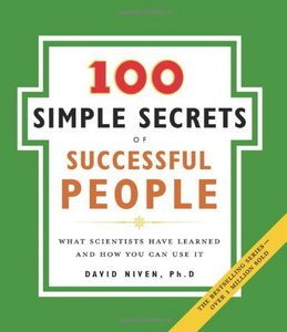 100 Simple Secrets of Successful People by David Niven PDF ebook