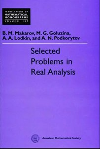 Selected Problems in Real Analysis free download