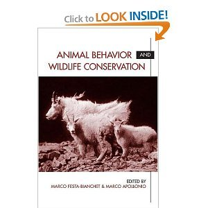 Animal Behavior and Wildlife Conservation free download