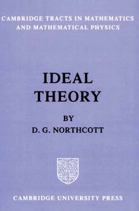 Ideal Theory (Cambridge Tracts in Mathematics) free download