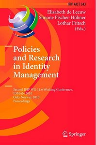 Policies and Research in Identity Management free download