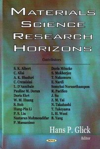 Materials Science Research Horizons free download