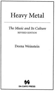 Heavy Metal: The Music and Its Culture free download