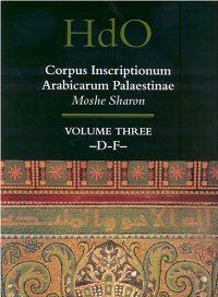 Corpus Inscriptionum Arabicarum Palaestinae (Handbook of Oriental Studies. Section 1 The Near and Middle East) free download