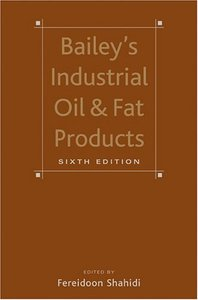 Bailey's Industrial Oil and Fat Products (6 Volume Set) free download