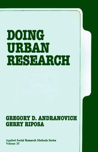 Doing Urban Research (Applied Social Research Methods) free download