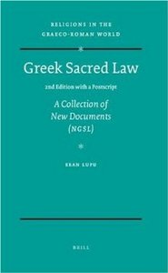 Greek Sacred Law (2nd Edition with a Postscript) (Religions in the Graeco-Roman World) free download