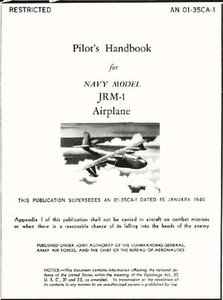 Pilot's Handbook for Navy Model JRM-1 Airplane free download