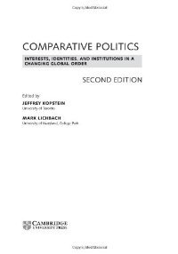 Comparative Politics: Interests, Identities, and Institutions in a Changing Global Order free download