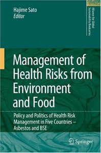 Management of Health Risks from Environment and Food free download