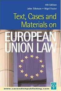 Text, Cases and Materials on European Union Law free download