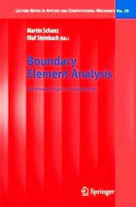 Boundary Element Analysis free download