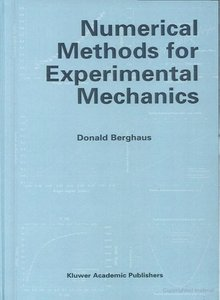 Numerical Methods for Experimental Mechanics free download