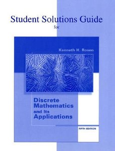 Student's Solutions Guide for use with Discrete Mathematics and Its Applications free download