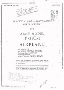 P-38L-1 AIRPLANE Erction and maintenance instructions for army model part 1-3 free download