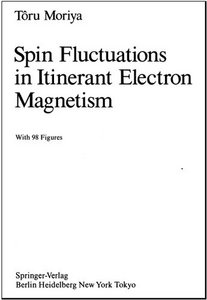 Spin Fluctuations in Itinerant Electron Magnetism free download