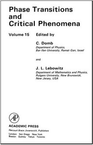 Phase Transitions and Critical Phenomena, Volume 15 free download