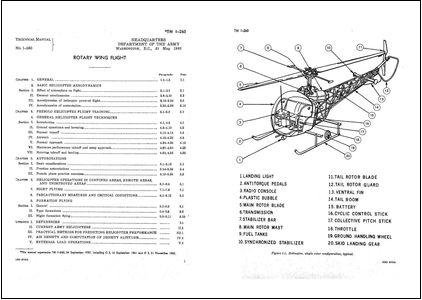 Technical Manual Rotary Wing Flight TM 1 260  133926 on rotary wing helicopter