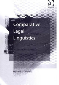 Heikki E. S. Mattila - Comparative legal linguistics free download