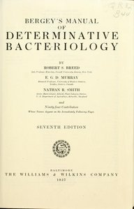 Bergey's manual of determinative bacteriology free download