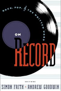 On Record: Rock, Pop and the Written Word free download