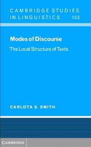 Modes of Discourse: The Local Structure of Texts free download
