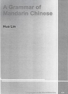 A grammar of Mandarin Chinese free download