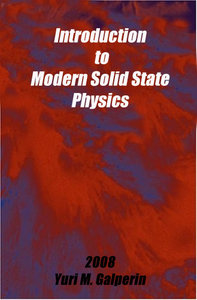 Introduction to Modern Solid State Physics free download