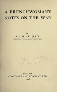 A Frenchwoman's notes on the war free download
