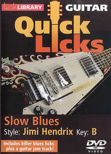 Lick Library - Quick Licks for Guitar - Jimi Hendrix Slow Blues, Key of B free download